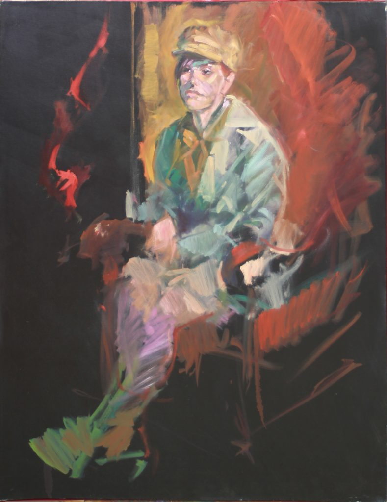 Aubrey, by Henryk Ptasiewicz 48x36 oil on canvas