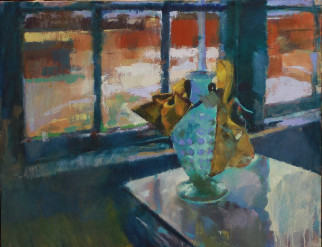 Still Life on a Snowy Day by Henryk Ptasiewicz 24x30 oil on canvas