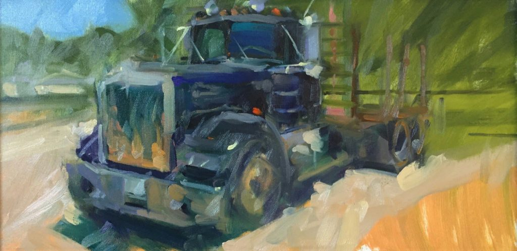 Flatbed Painted at Steelville Plein Air Event 2018