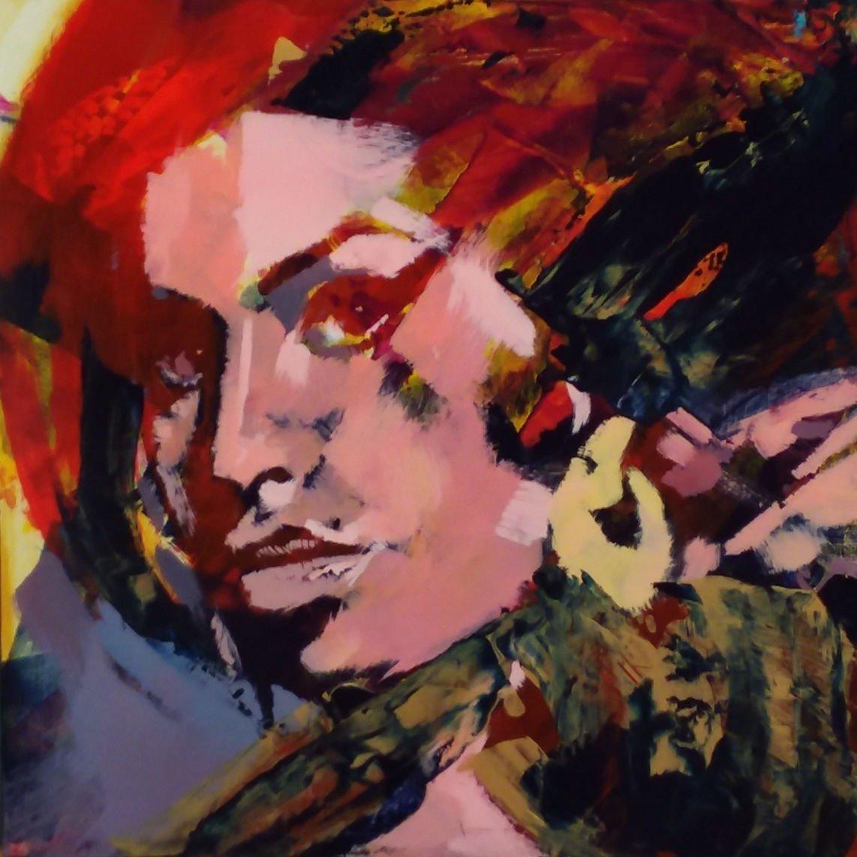 Amy Winehouse Acrylic on Cradled Panel 16x16