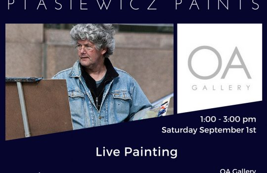 Ptasiewicz Paints – Live Painting Event to Kick Off Exhibition at OA Gallery in Kirkwood
