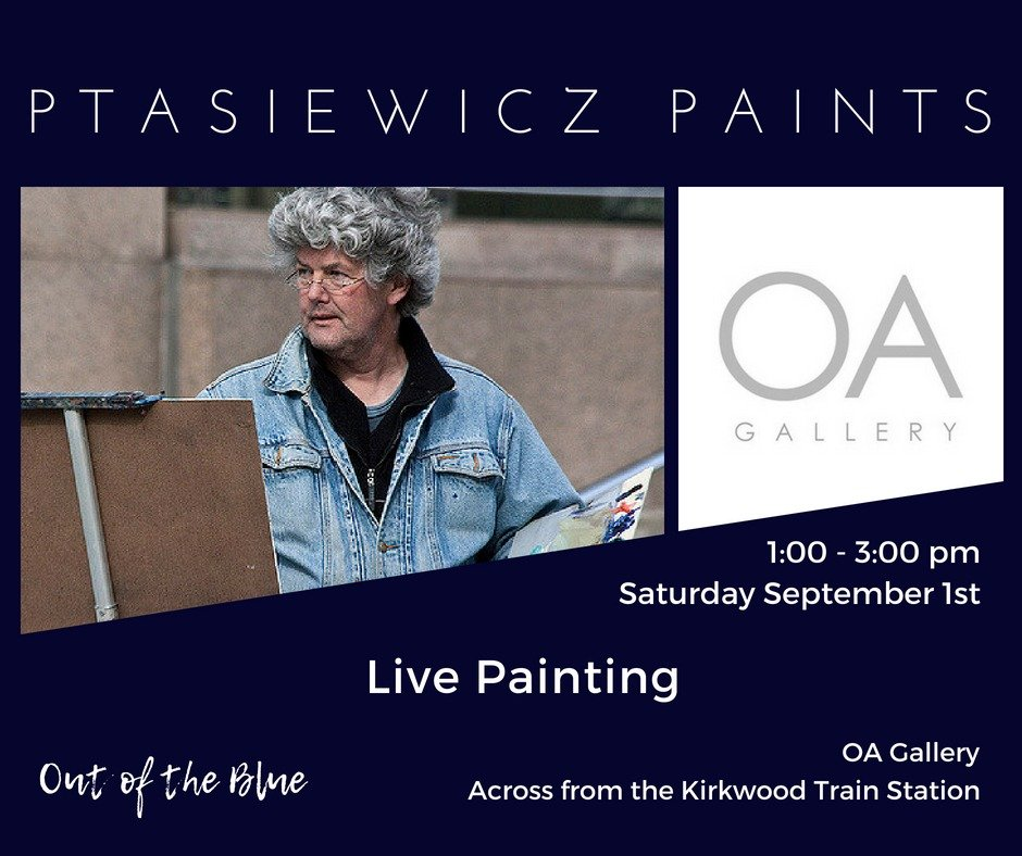 Henryk Ptasiewicz Live Painting at OA Gallery