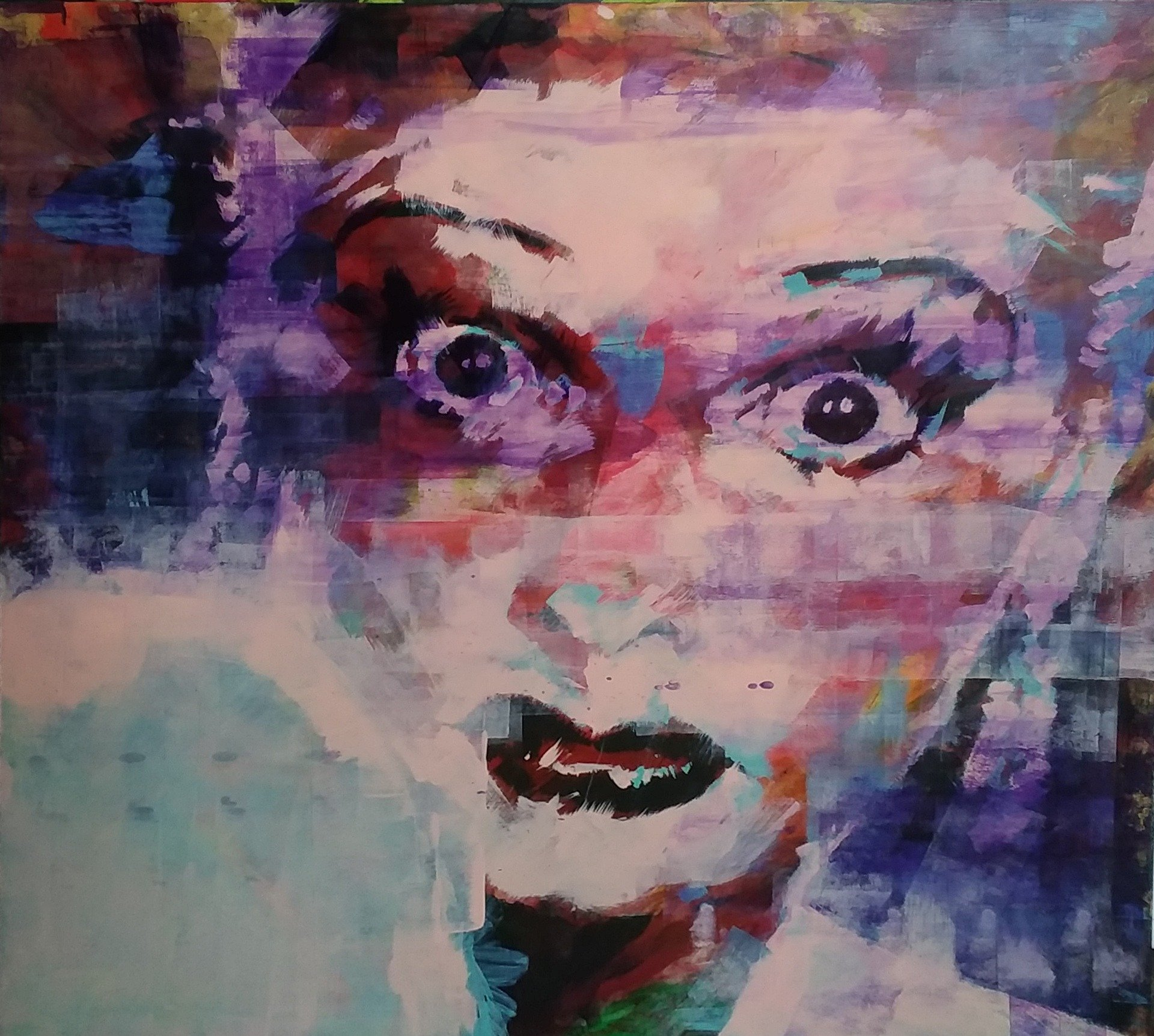 Lucille Ball by Henryk Ptasiewicz Acrylic on Cradled Panel 48x48
