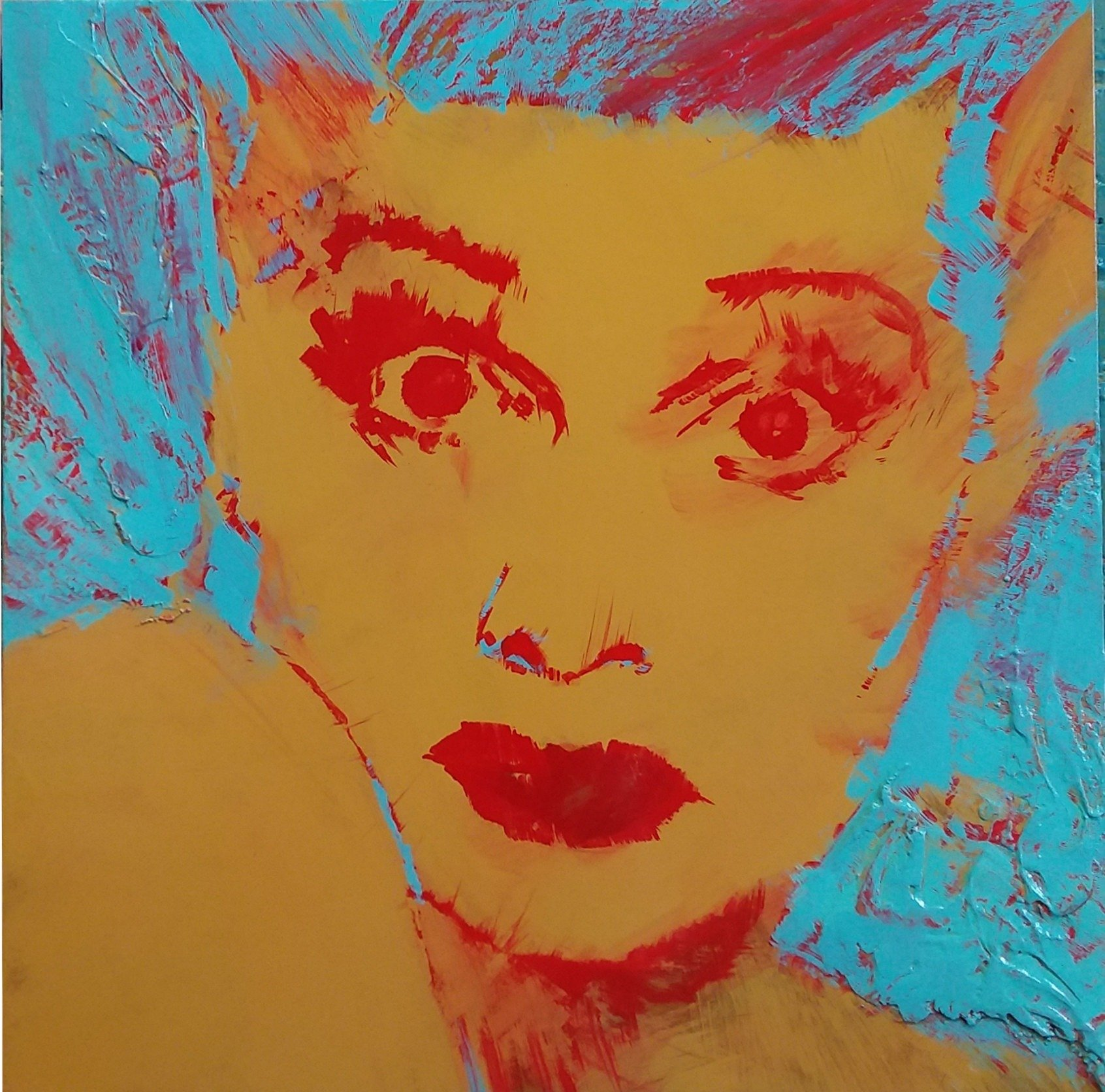 Lucy by Henryk Ptasiewicz Mixed Media on Panel 24x24
