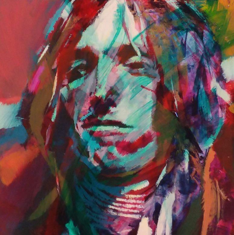 Tom Petty Acrylic on Cradled Panel 16x16
